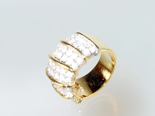 1980's pave ring