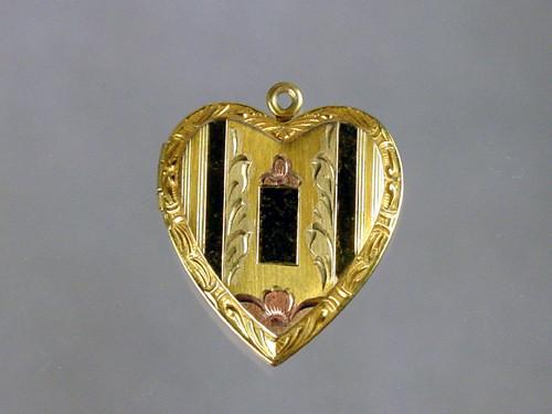 Tri Color gold filled heart locket