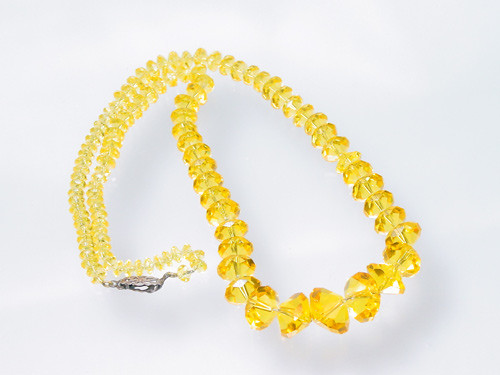 Citrine Yellow Antique Necklace