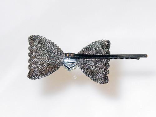 back of mesh bow hair pin