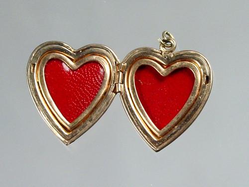 heart bezels and cellophane
