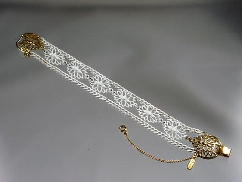 White enamel Monet bracelet