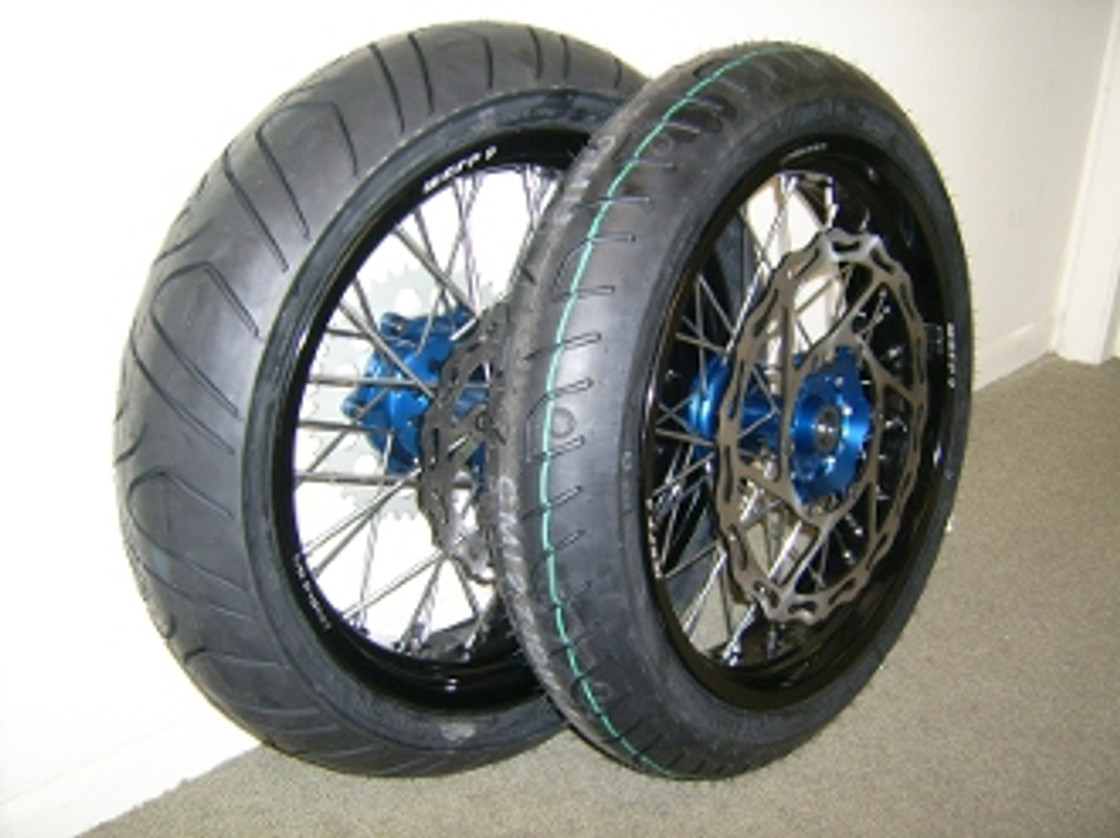 Supermoto Wheel and Tire Sets