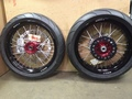 Warp 9 Supermoto Wheels with Tires