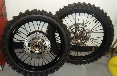 "Warp 9 Wheels with D.O.T. Dual Sport Tires (21"" Front / 18"" Rear)"
