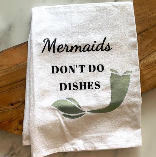 Mermaid Dishes Tea Towel