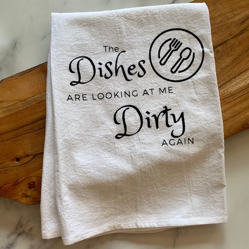 """""""Dirty Dishes"""" Tea Towel"""