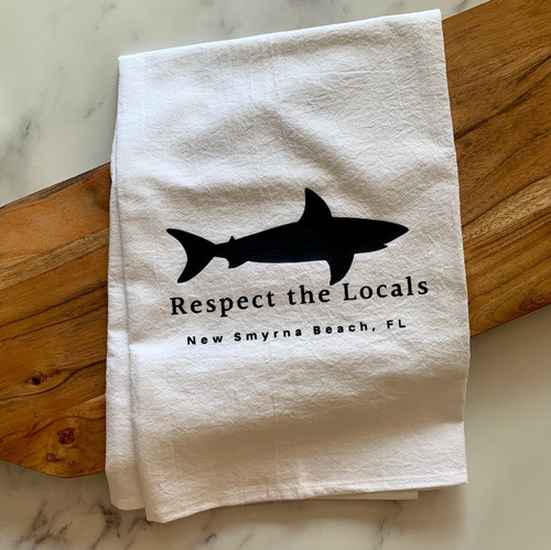 """Respect the Locals"" Tea Towel"