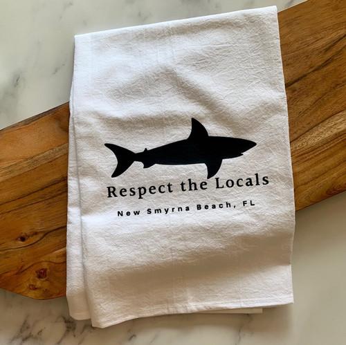 """Respect the Locals"" Tea Towel"
