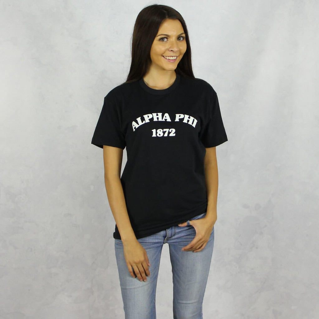 Alpha Phi T-Shirt in Black