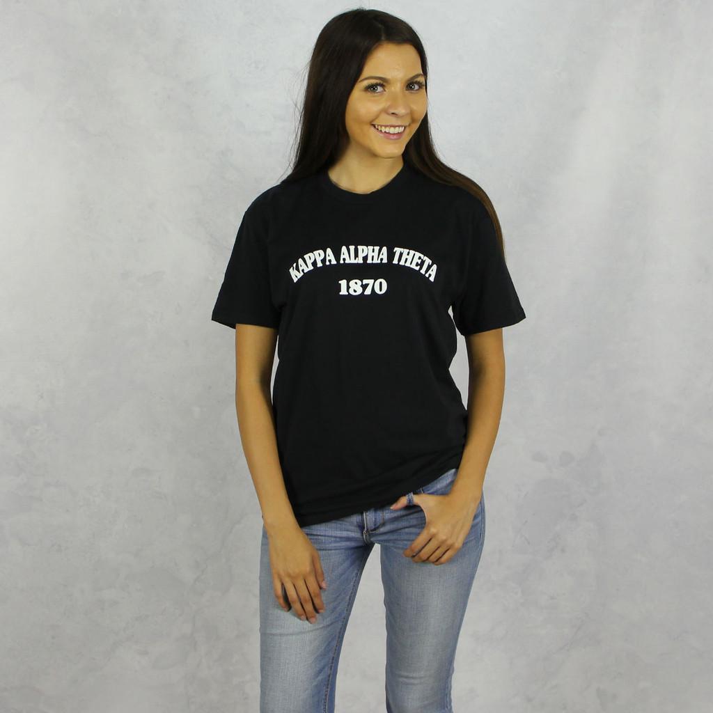 Kappa Alpha Theta Short Sleeve T-Shirt in Black