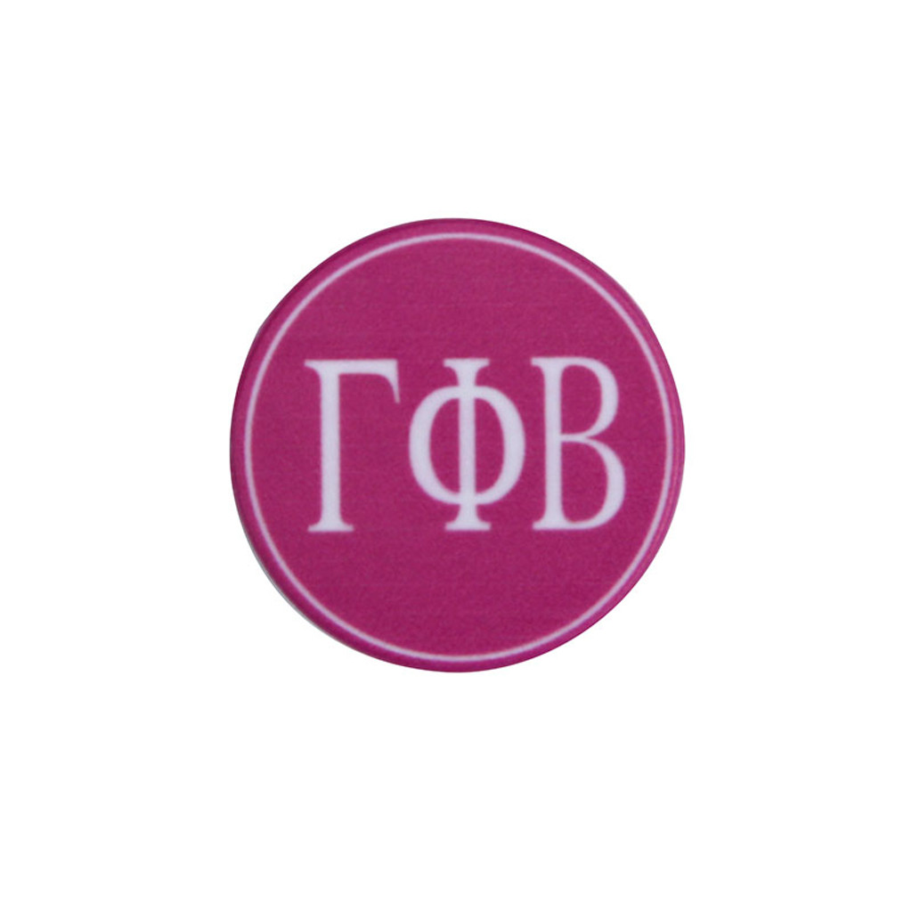 Gamma Phi Beta Phone Grip in Hot Pink Top