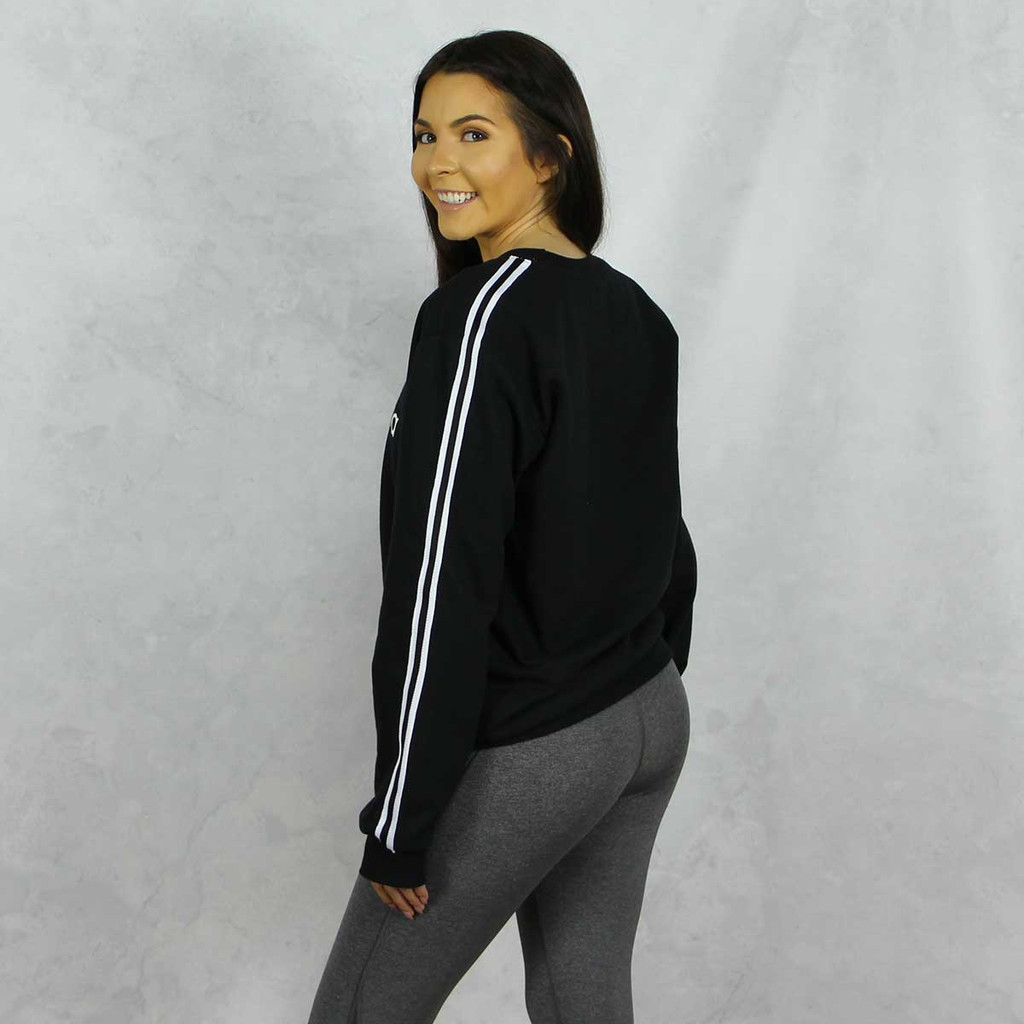 Gamma Phi Beta Striped Sweatshirt Side