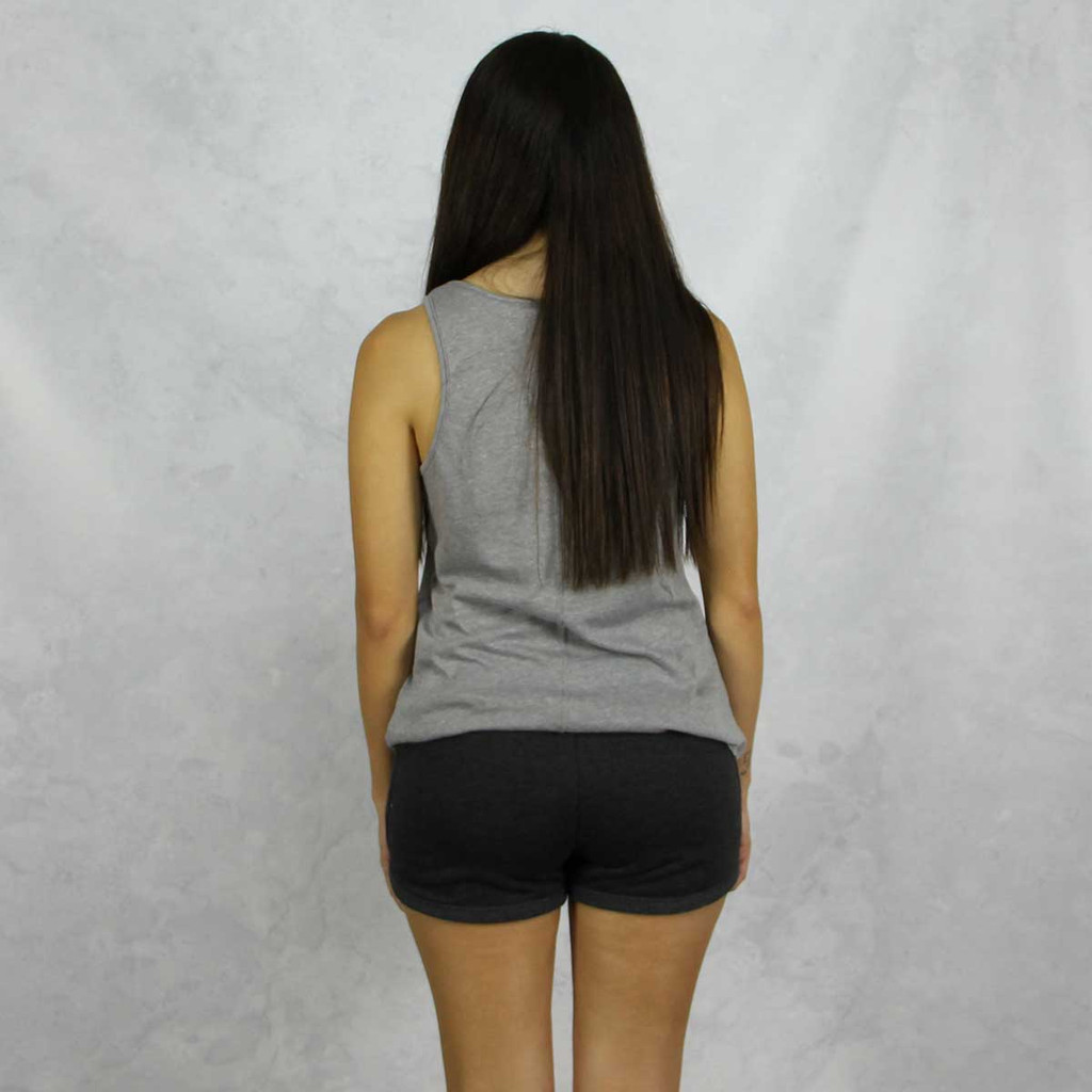 Gamma Phi Beta Shorts in Charcoal Back