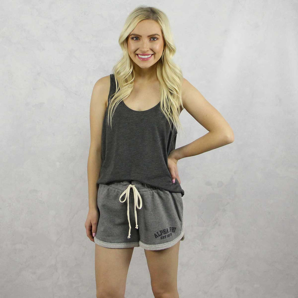Alpha Phi Shorts in Grey