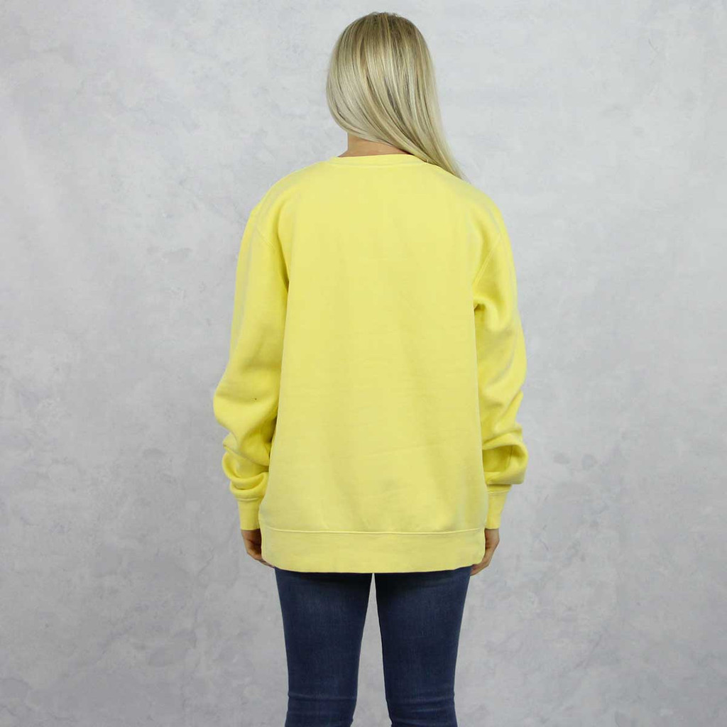 Alpha Phi Embroidered Sweatshirt in Yellow now on Alpha Phi Store, back.