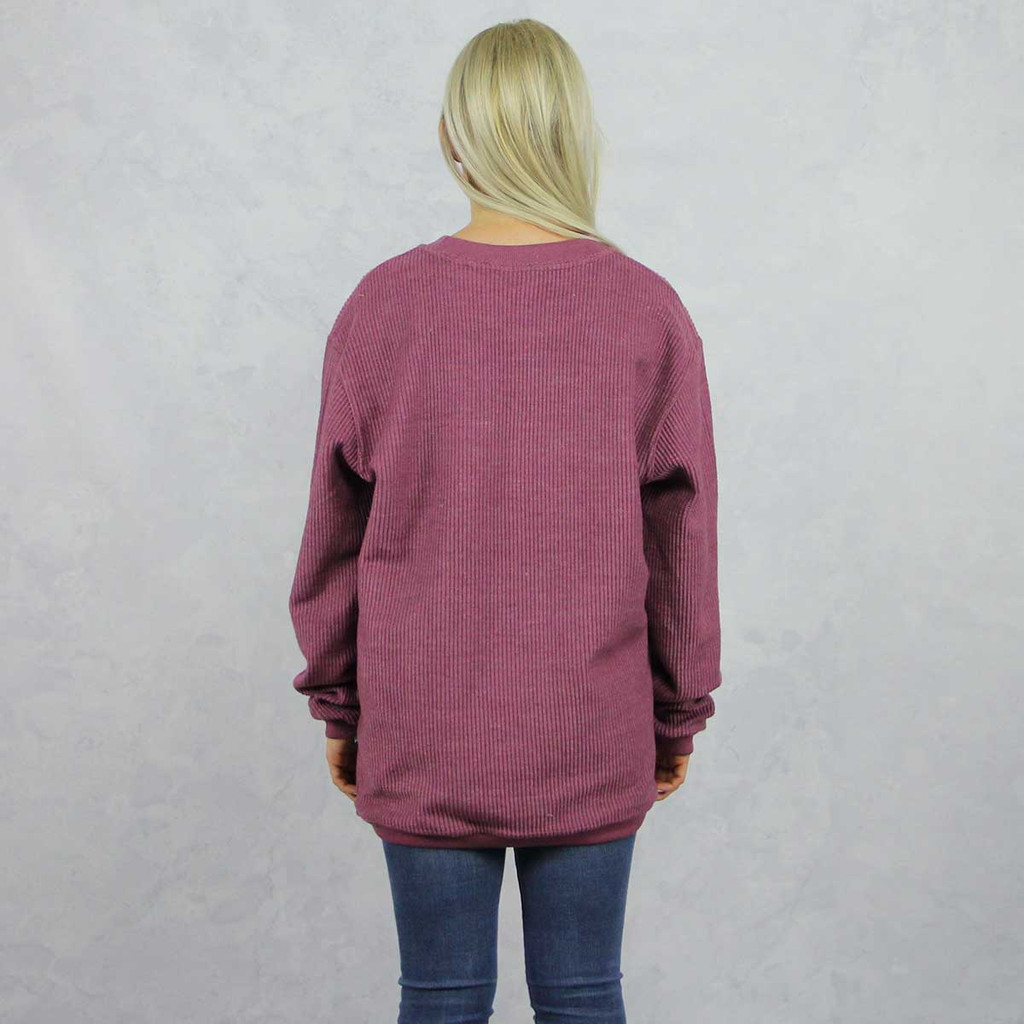 Alpha Phi Maroon Corded Sweatshirt by Alpha Phi Store, Back.