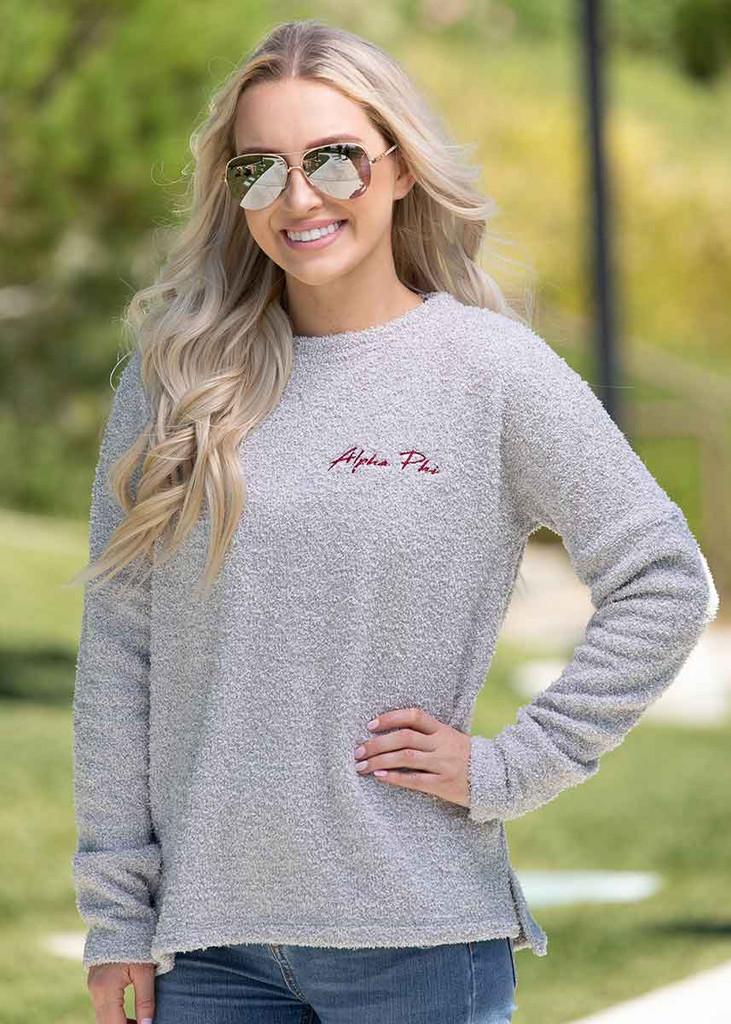 Alpha Phi Fleece Sweatshirt by Sorority Specialties | Alpha Phi Store Main