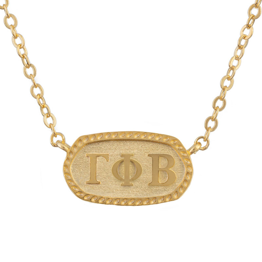 Gamma Phi Beta Gold Oval Necklace
