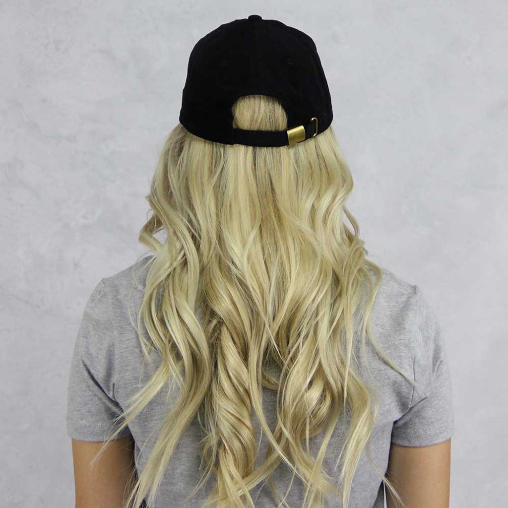 Kappa Alpha Theta Corduroy Baseball Hat in Black Back