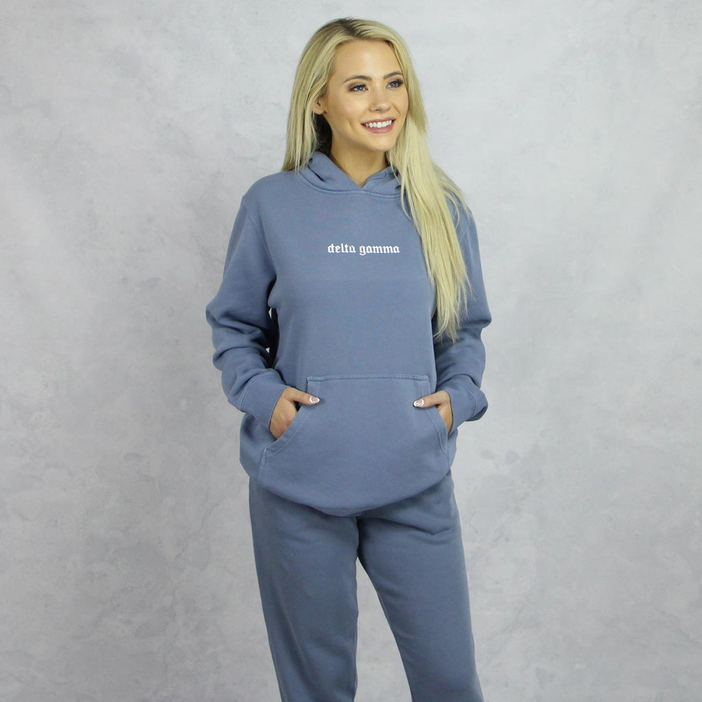 Delta Gamma Blue Hoodie and Joggers