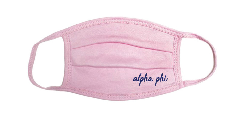 Alpha Phi Custom Face Mask