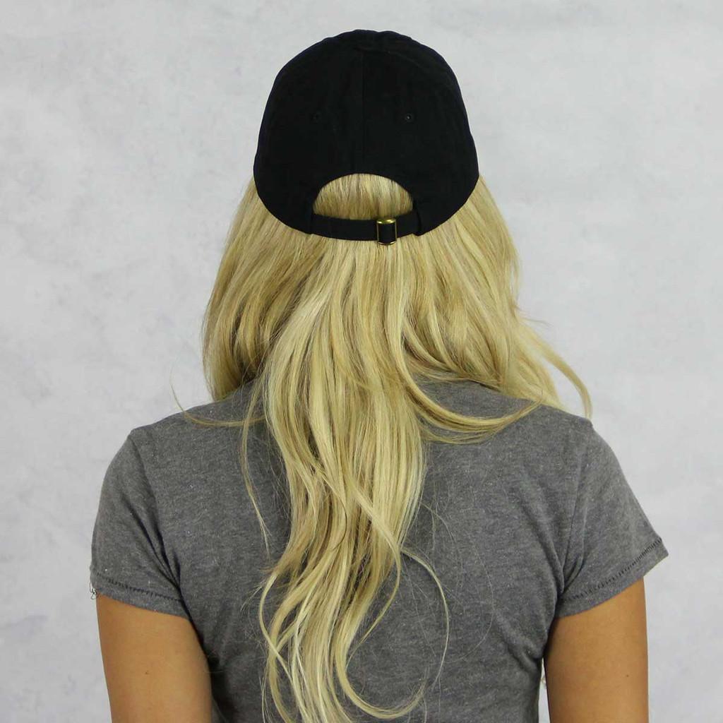 Alpha Phi Baseball Hat in Black Back