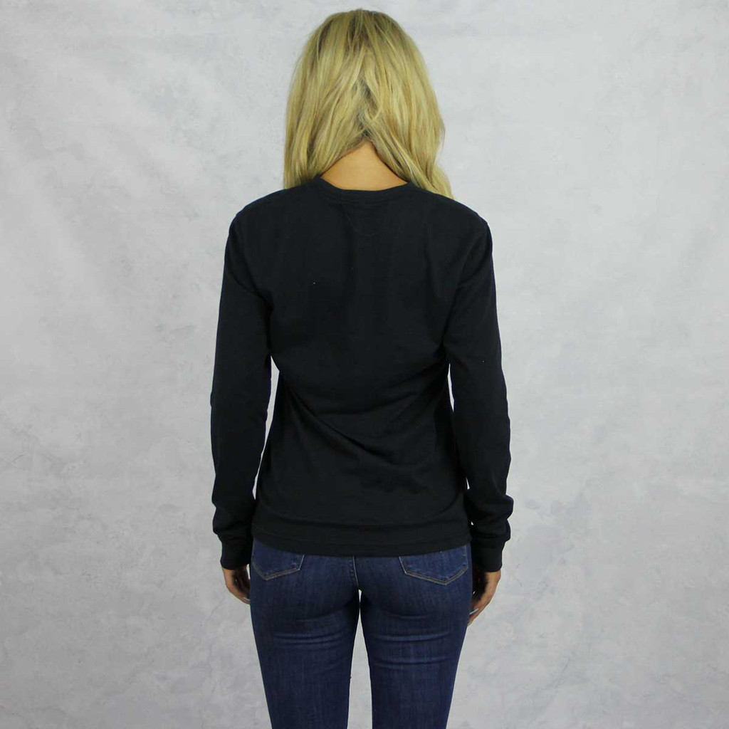 Alpha Chi Omega Long Sleeve T-Shirt in Black Back