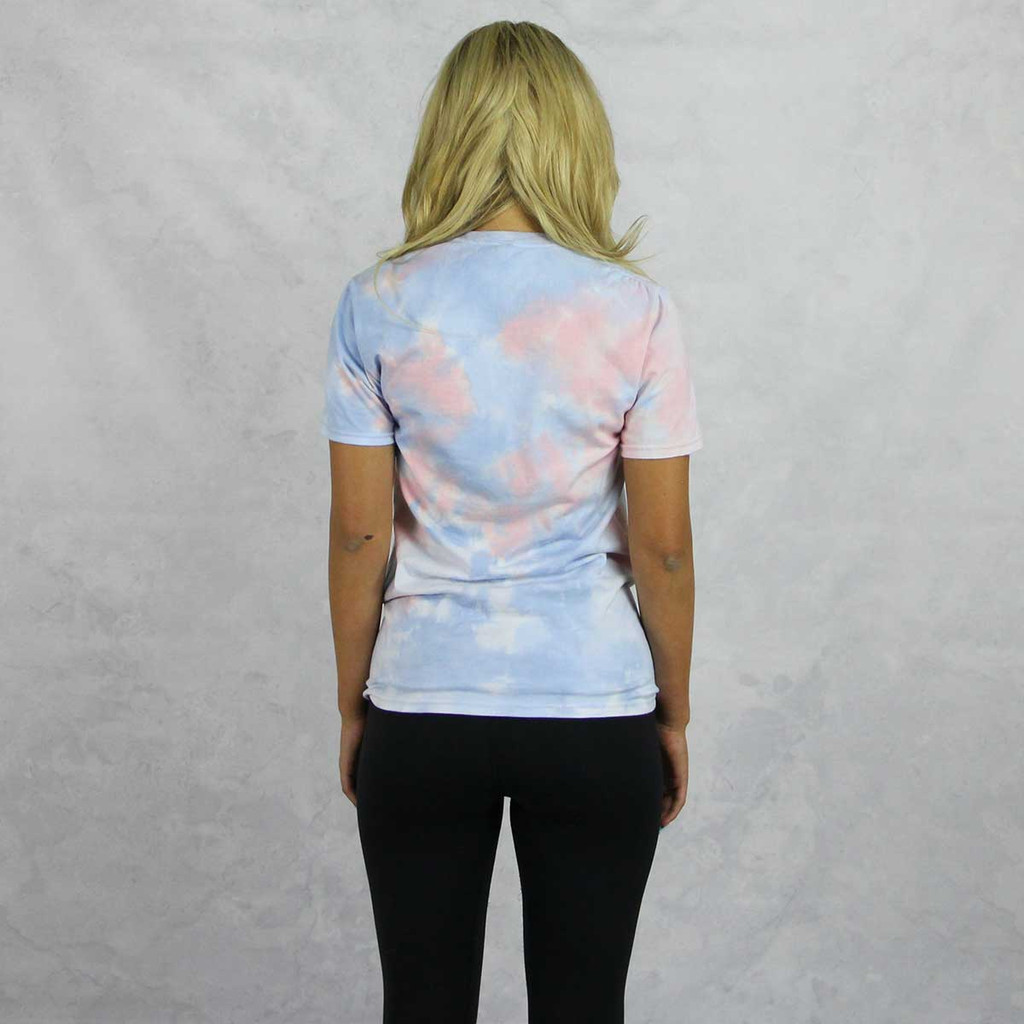 Alpha Phi Short Sleeve Tie Dye T-Shirt Back
