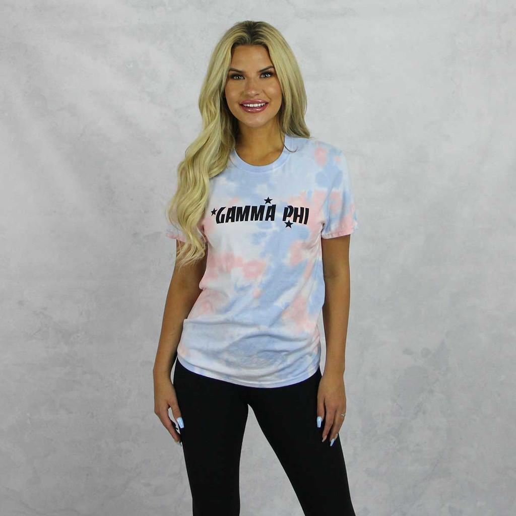 Gamma Phi Beta Short Sleeve Tie Dye T-Shirt