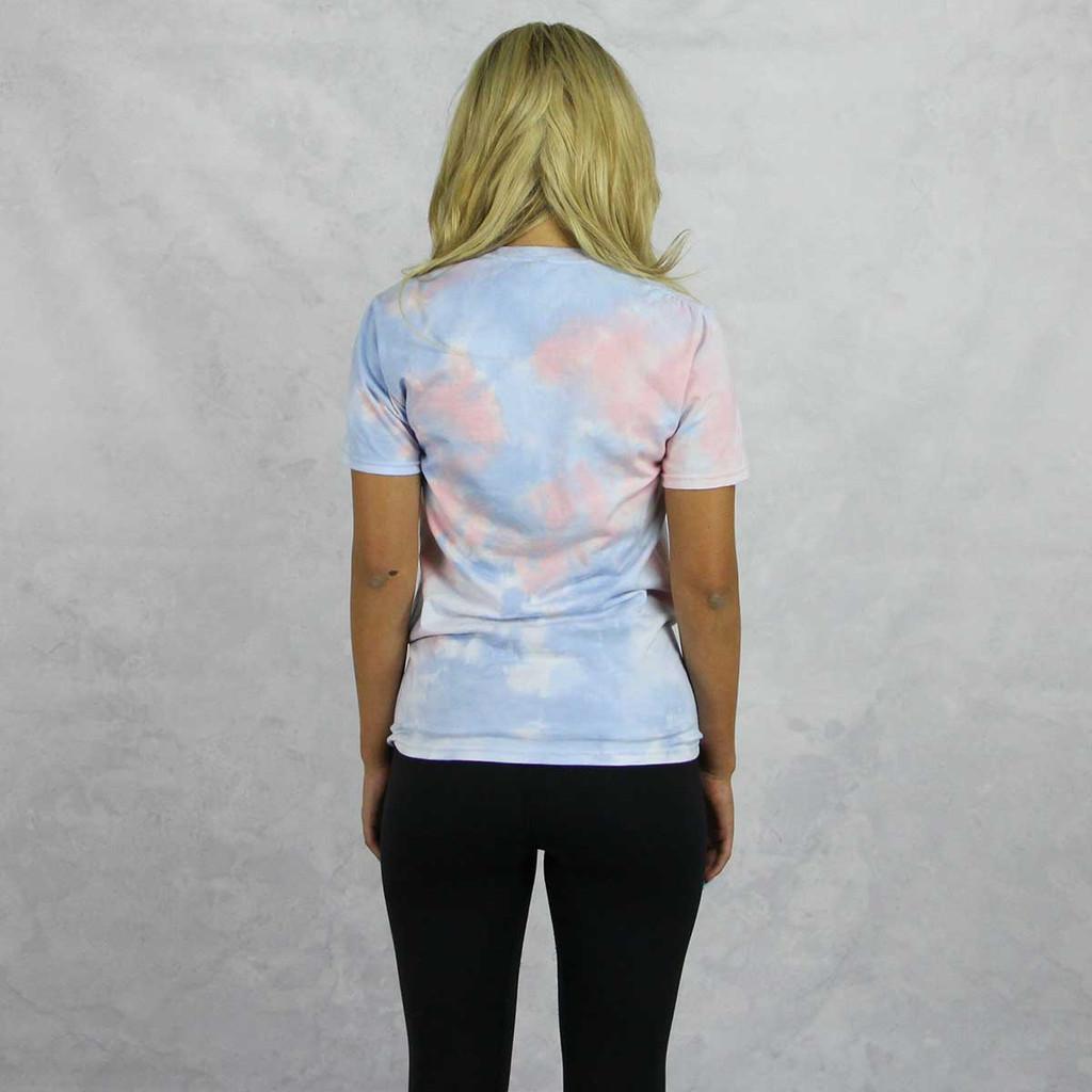 Alpha Chi Omega Short Sleeve Tie Dye T-Shirt Back