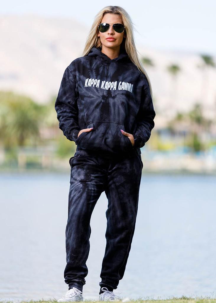 Kappa Kappa Gamma Tie Dye Hoodie in Black Main