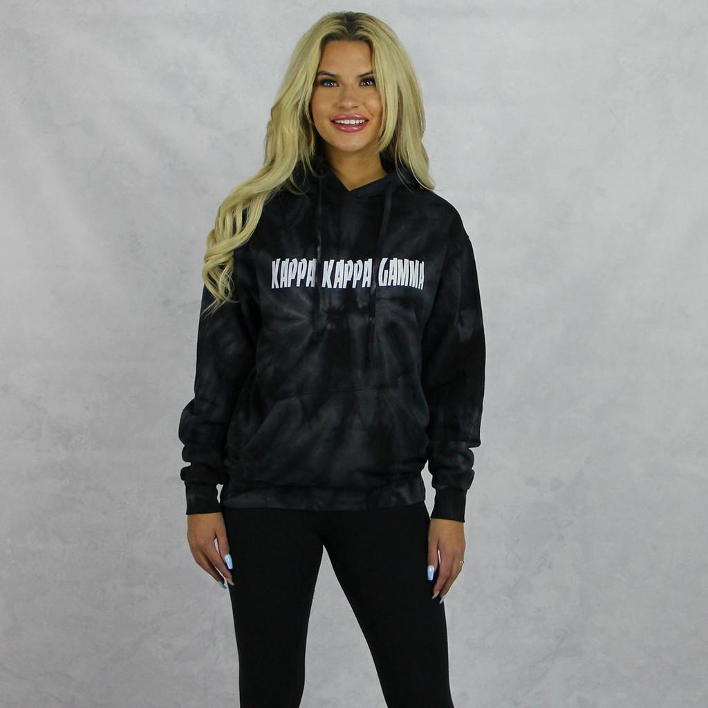 Kappa Kappa Gamma Tie Dye Hoodie in Black