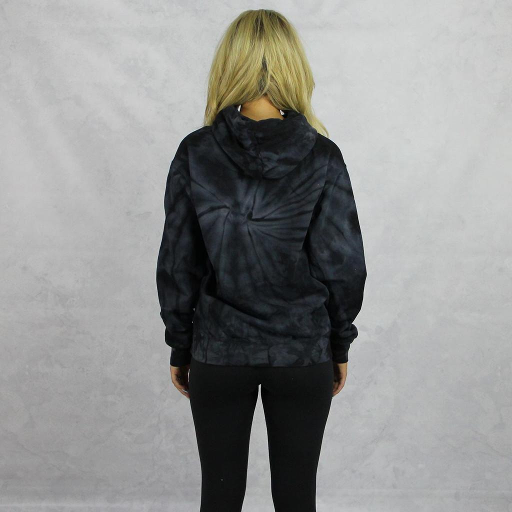 Alpha Chi Omega Tie Dye Hoodie in Black Back