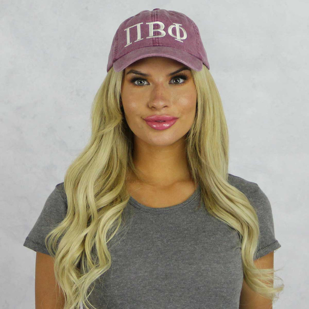 Pi Beta Phi Baseball Hat in Maroon