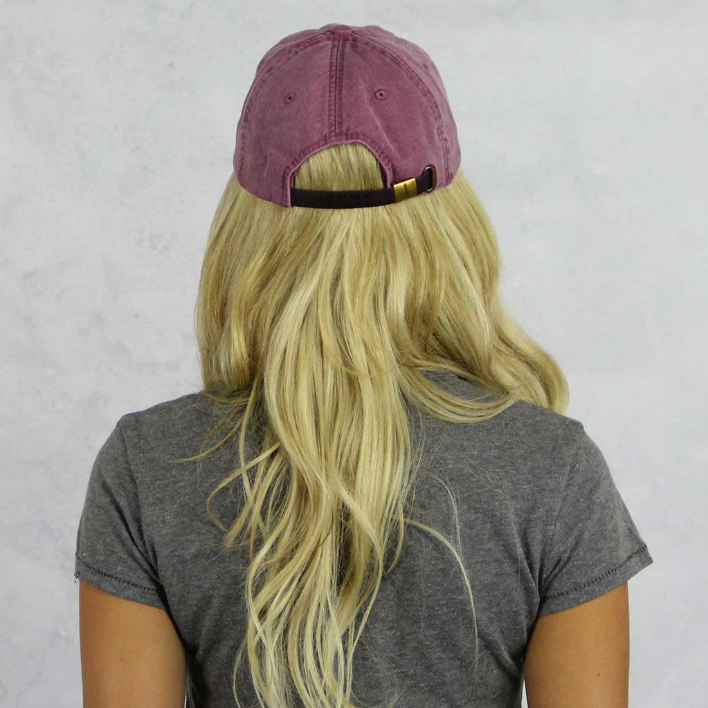 Pi Beta Phi Baseball Hat in Maroon Back