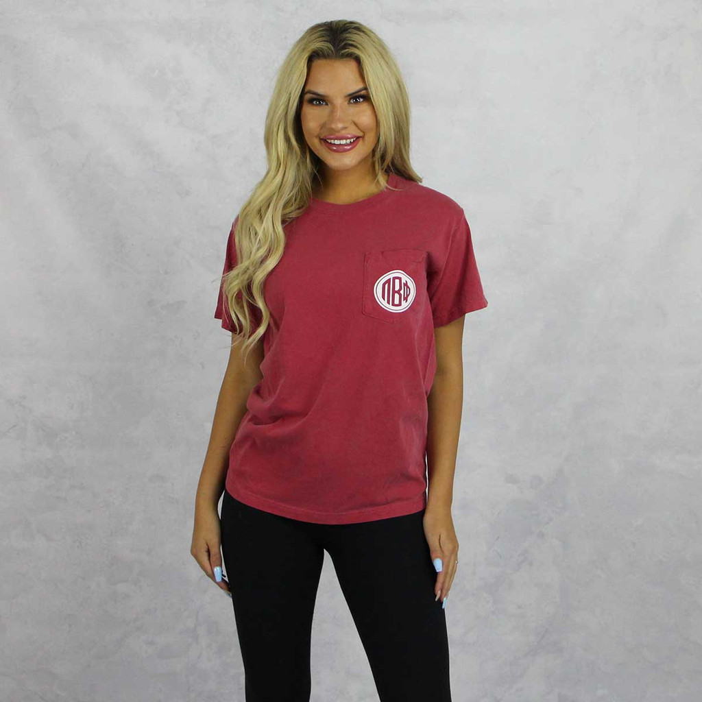 Pi Beta Phi Comfort Colors Pocket T-Shirt