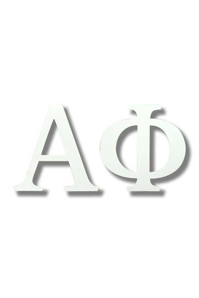 Alpha Phi Large White Sticker