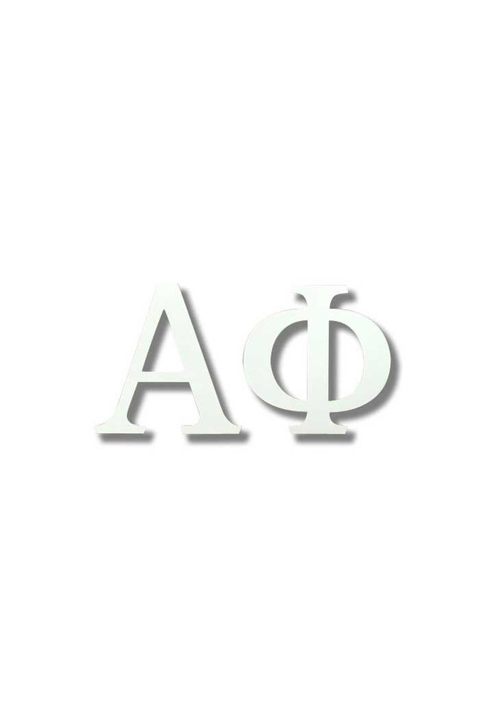 Alpha Phi White Letter Sticker