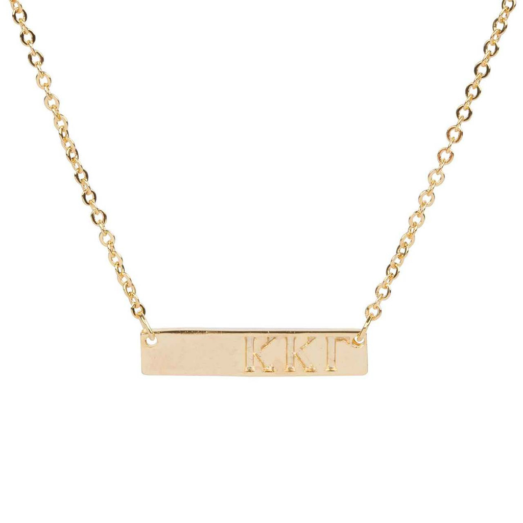 Kappa Kappa Gamma Gold Bar Necklace