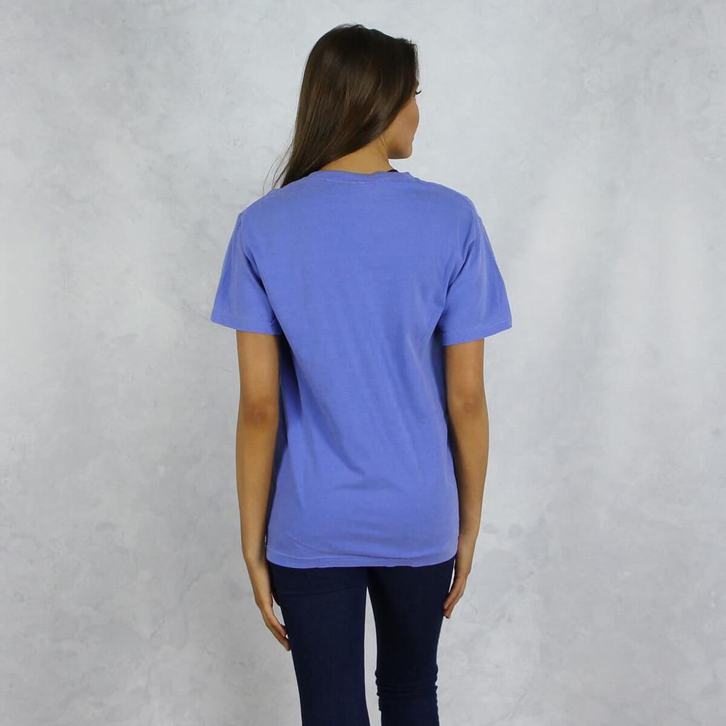 Alpha Chi Omega Comfort Colors Pocket T-Shirt Back