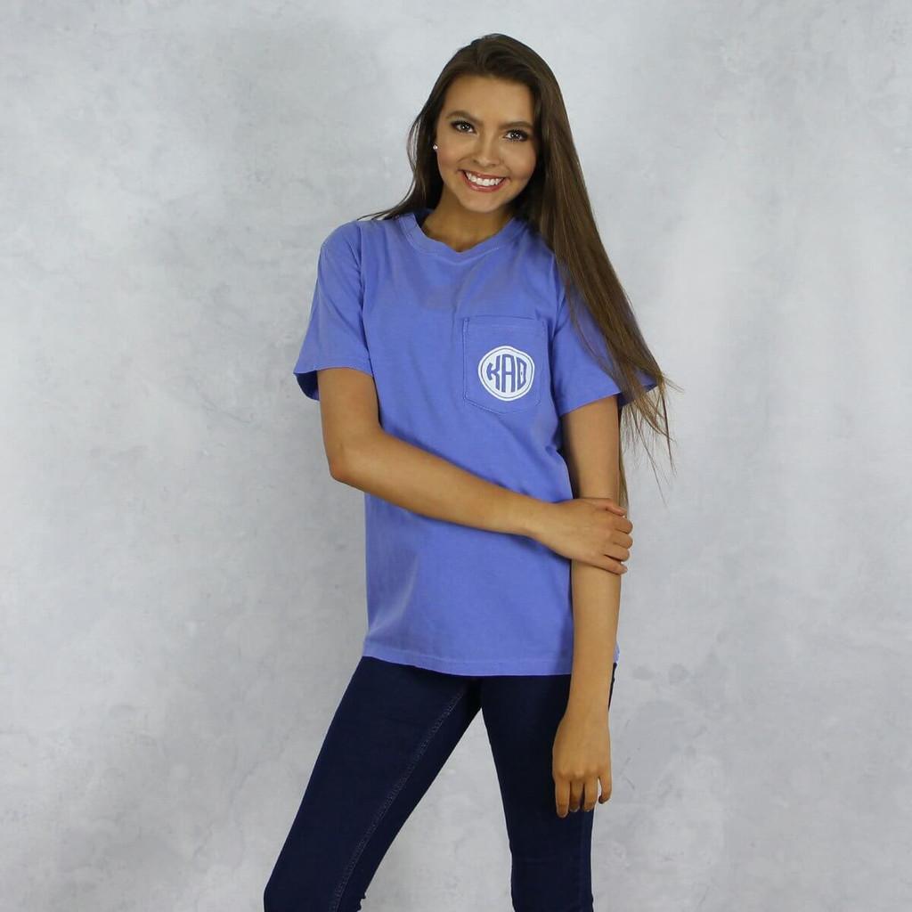 Kappa Alpha Theta Comfort Colors Pocket T-Shirt