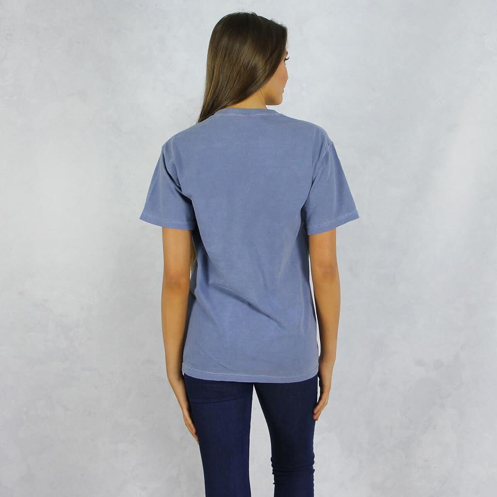Kappa Kappa Gamma Comfort Colors Pocket T-Shirt Back