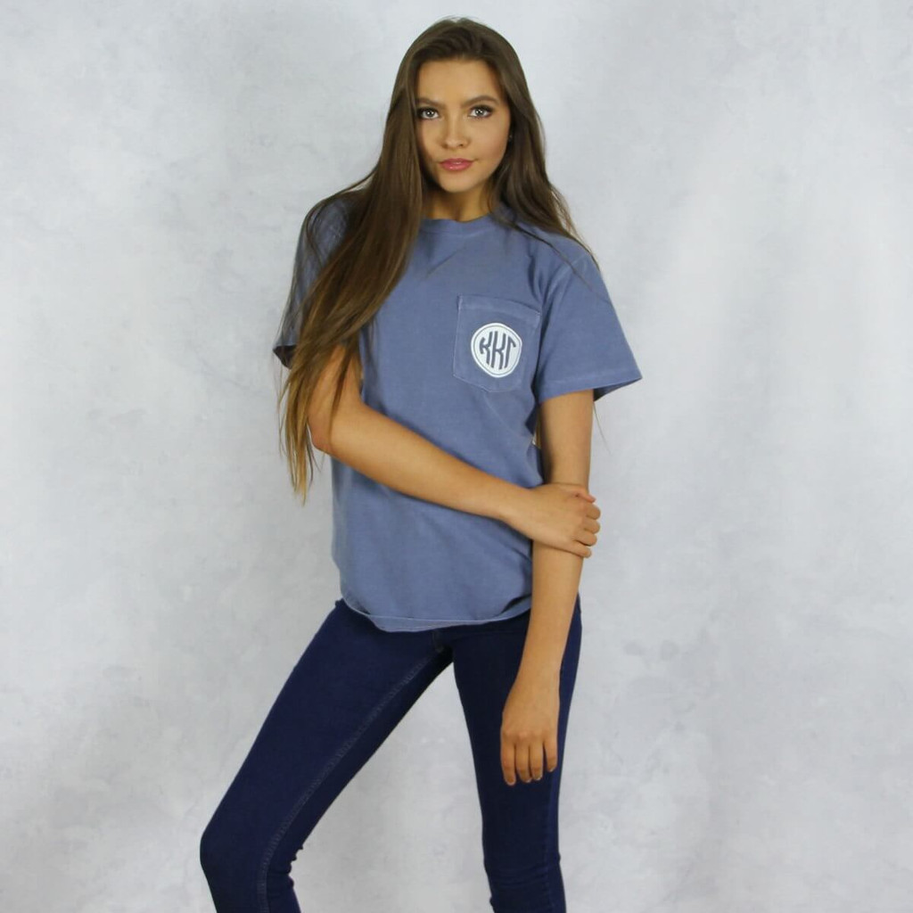 Kappa Kappa Gamma Comfort Colors Pocket T-Shirt