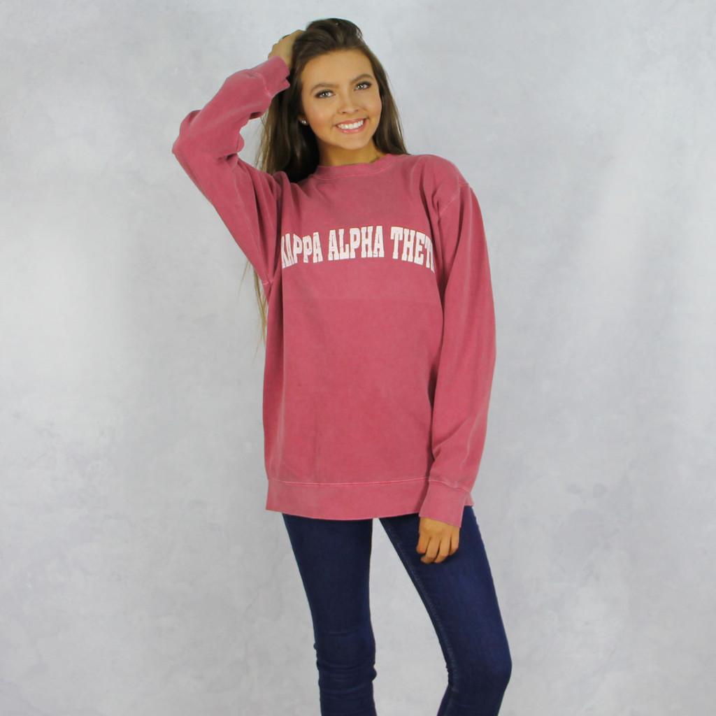 Kappa Alpha Theta Comfort Colors Sweatshirt in Red