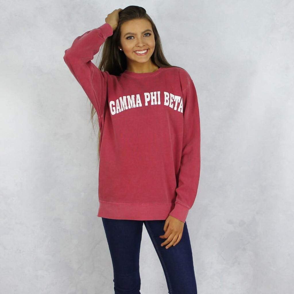 Gamma Phi Beta Comfort Colors Sweatshirt in Red