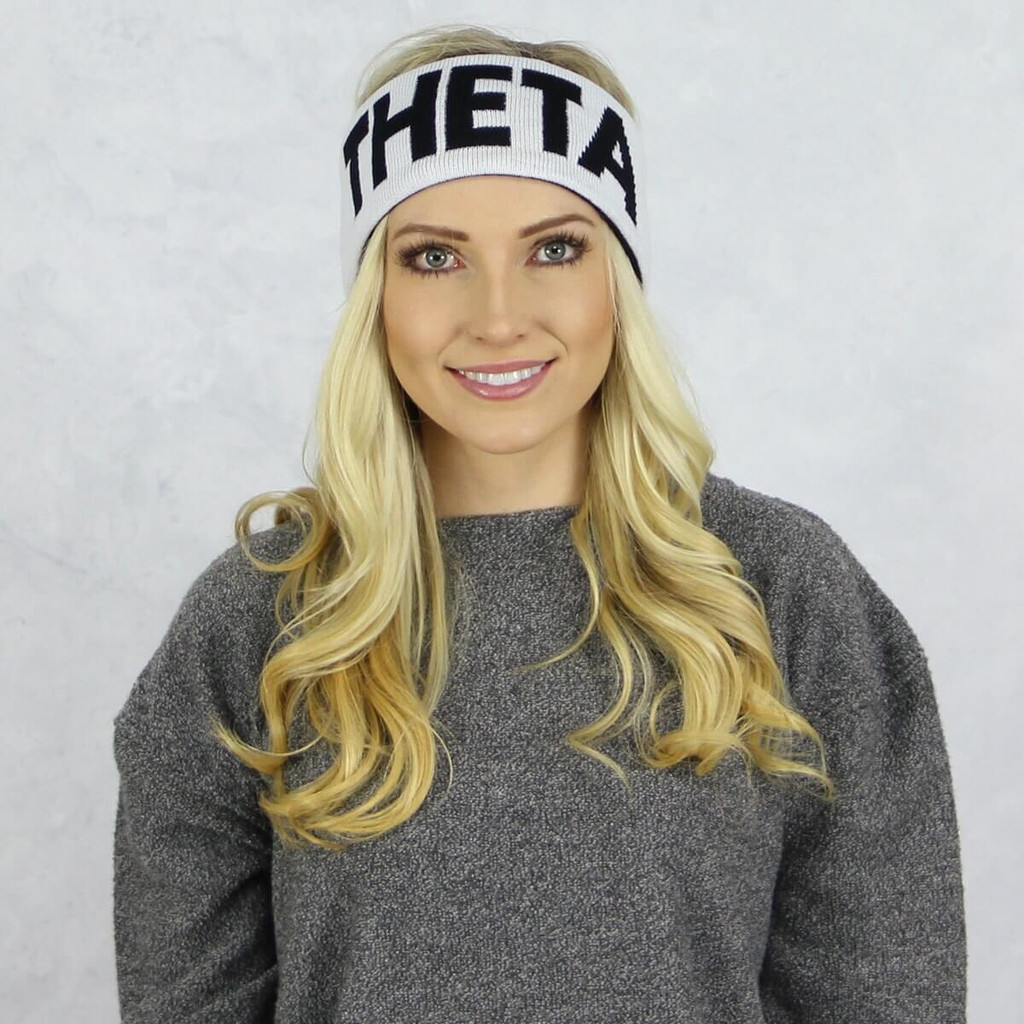 Kappa Alpha Theta Reversible Headband and Ear Warmer White
