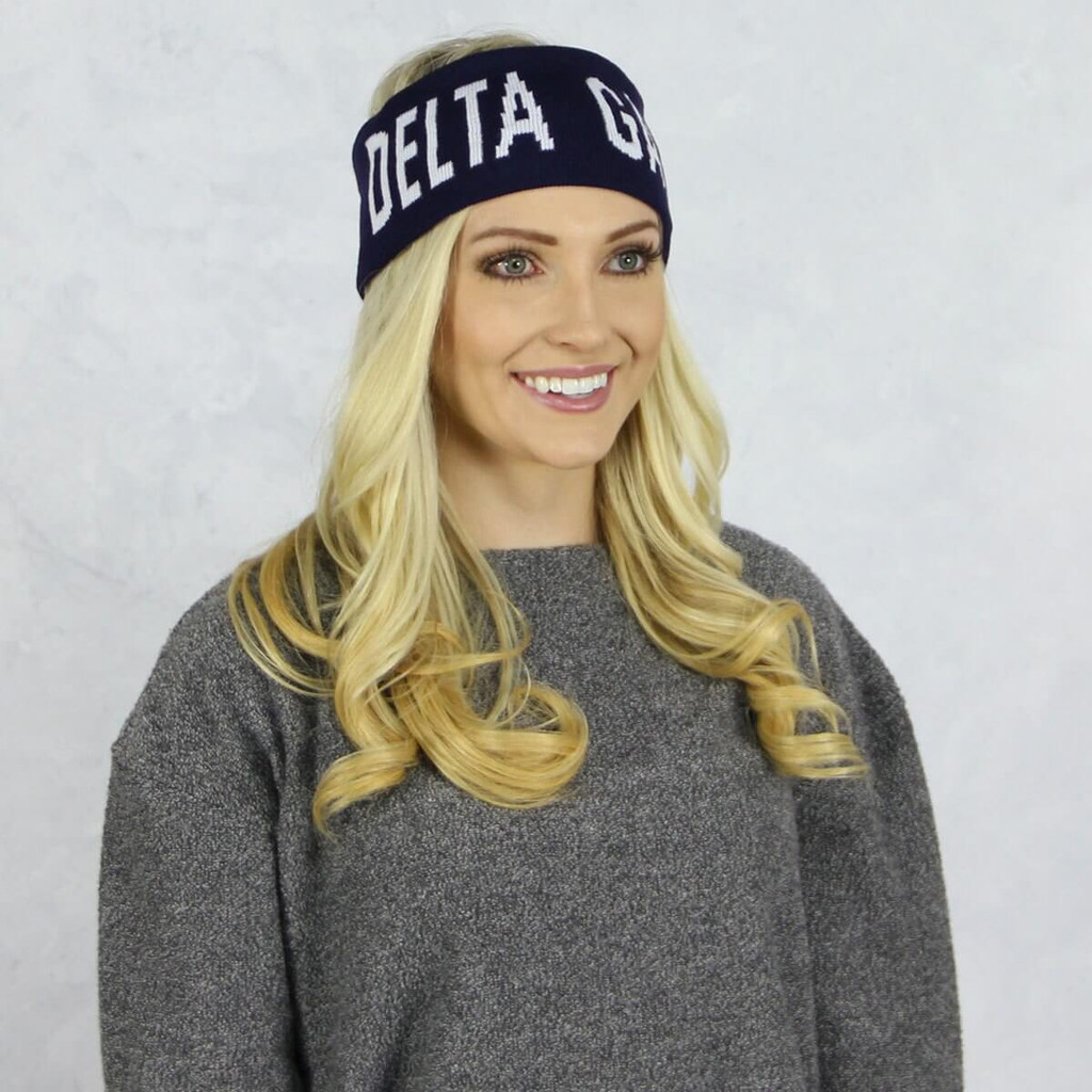 Delta Gamma Reversible Headband and Ear Warmer