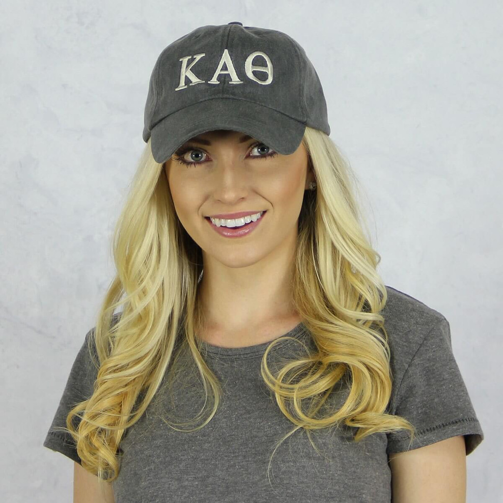 Kappa Alpha Theta Baseball Hat in Gray