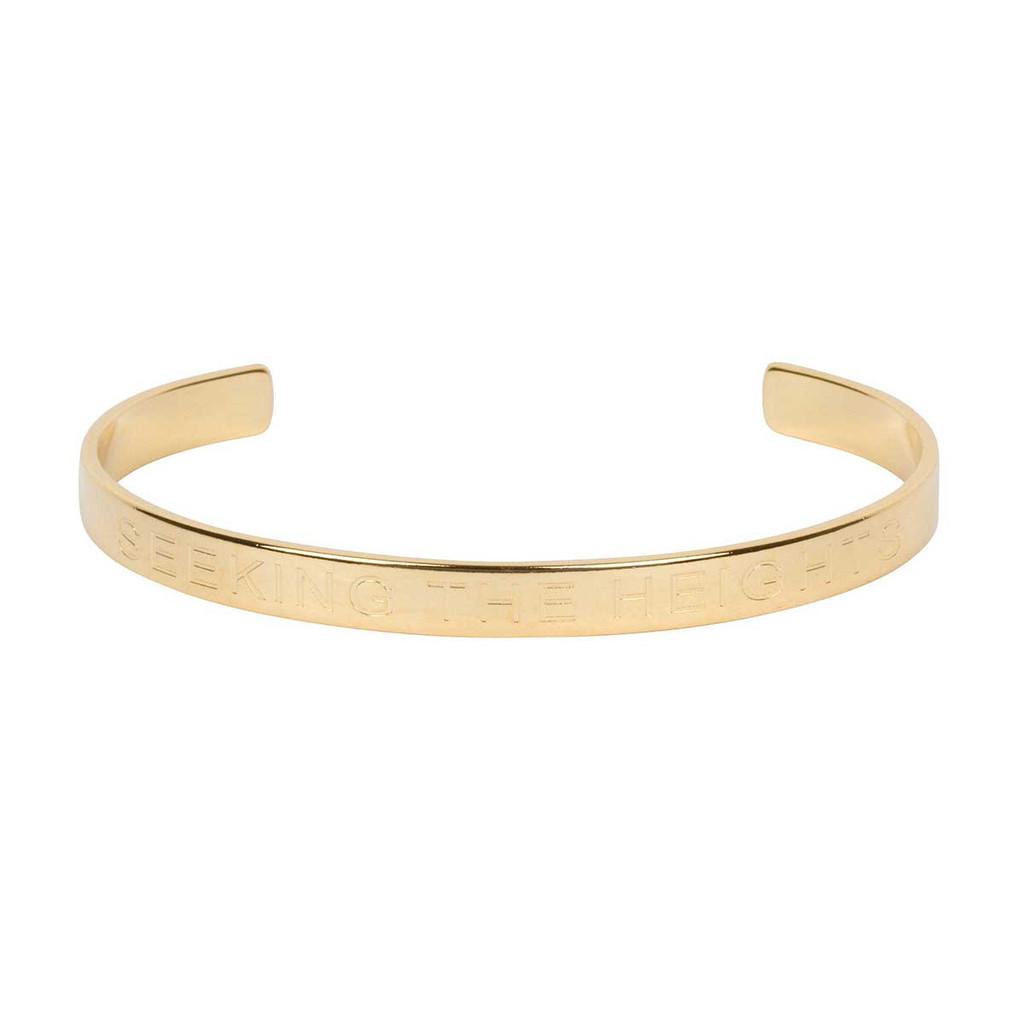 Alpha Chi Omega Gold Cuff Bracelet